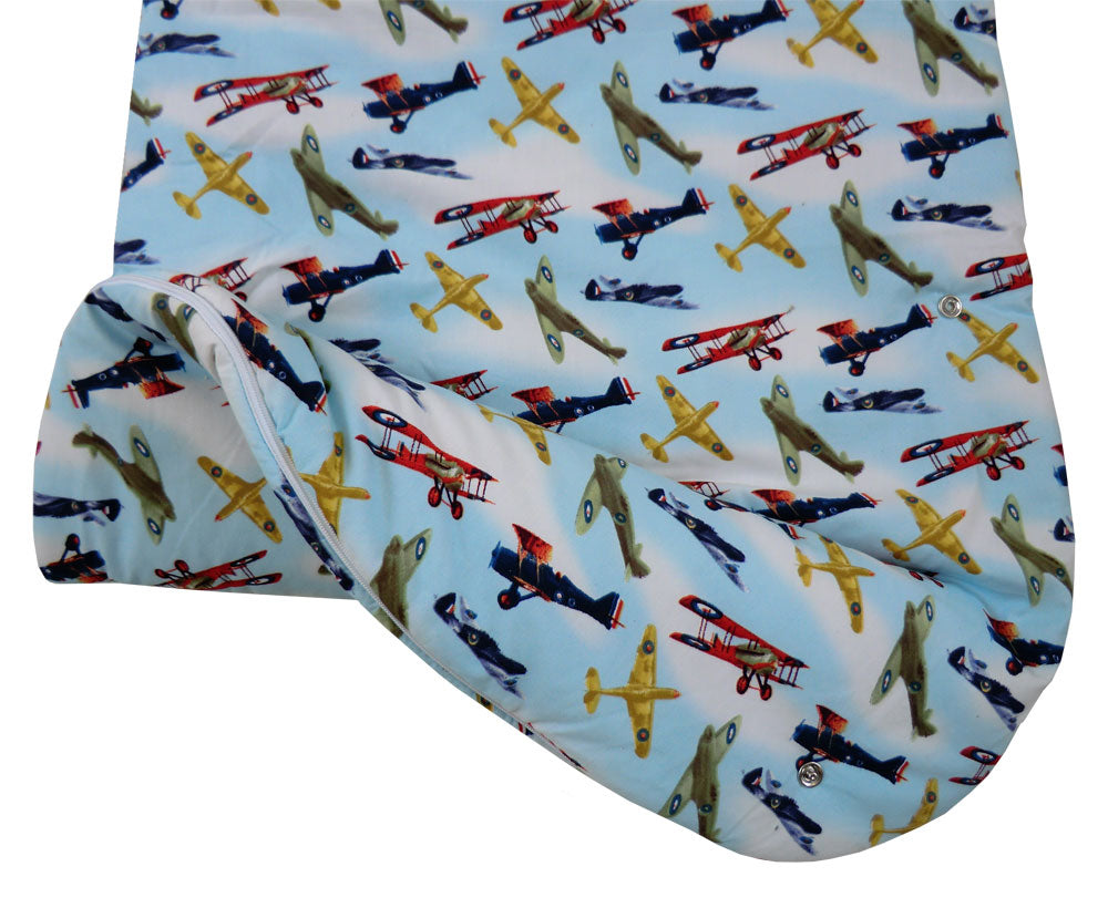 Vintage Plane Baby Sleeping Bag