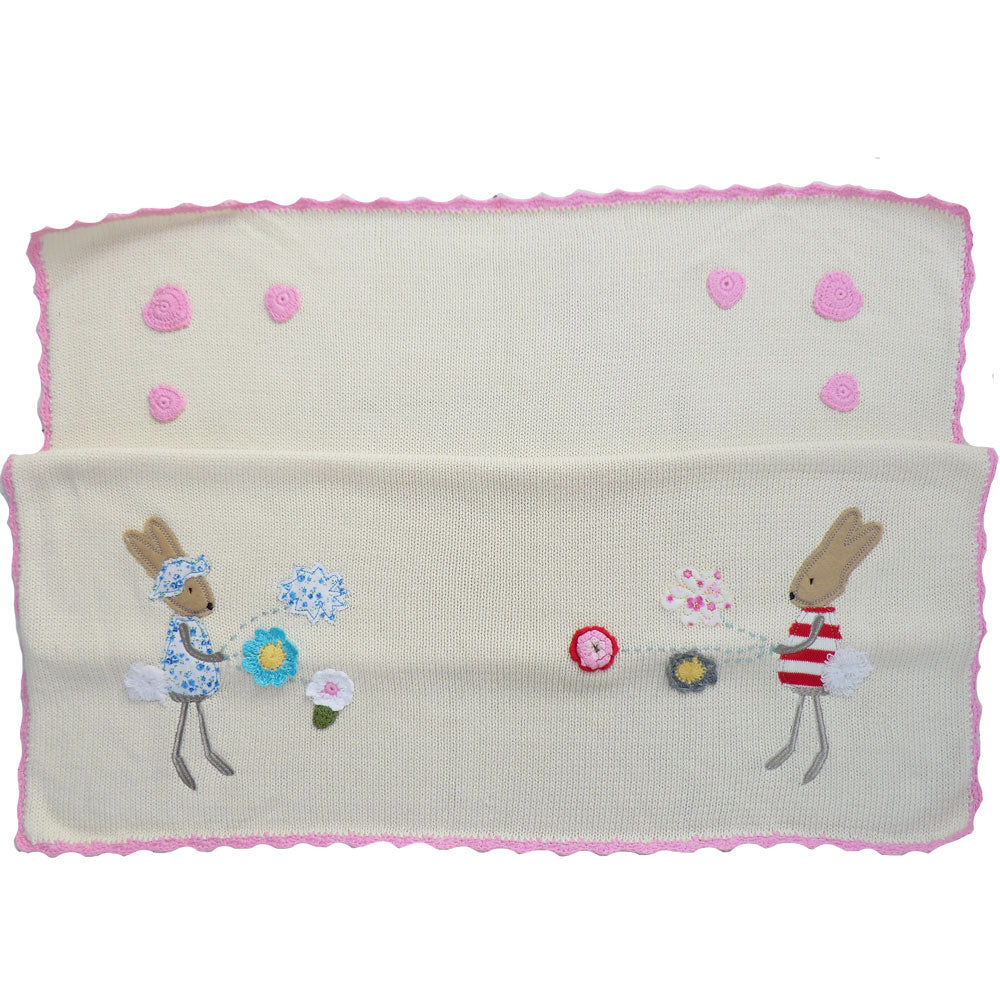 Rabbit Pram Blanket