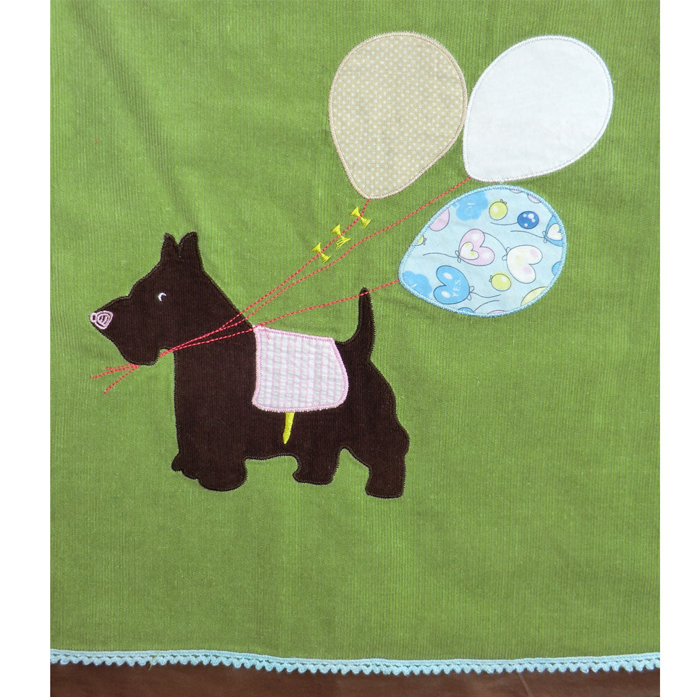 Scottie Dog Cord Dress