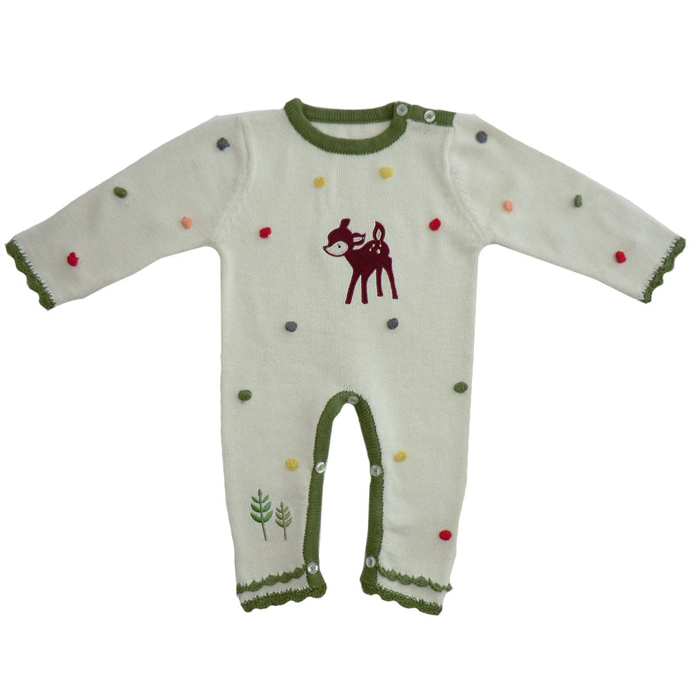 Woodland Deer Long-Sleeve Jumpsuit