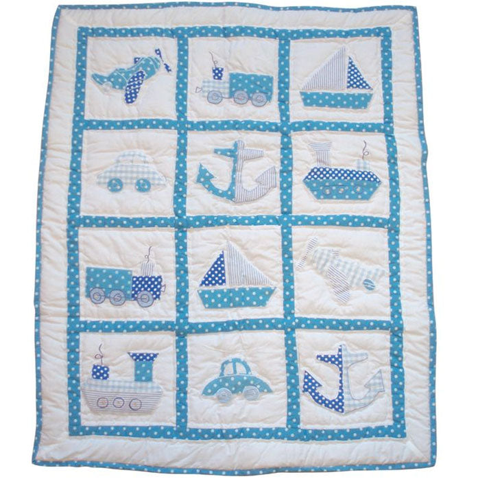 Traditional Blue Cot Quilt