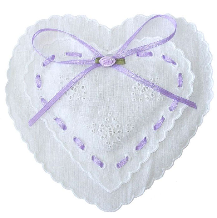 Frilled Heart Sachet - Lilac