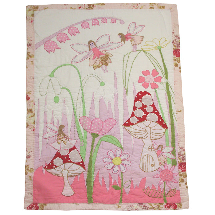 Fairies In The Garden Single Bed Quilt