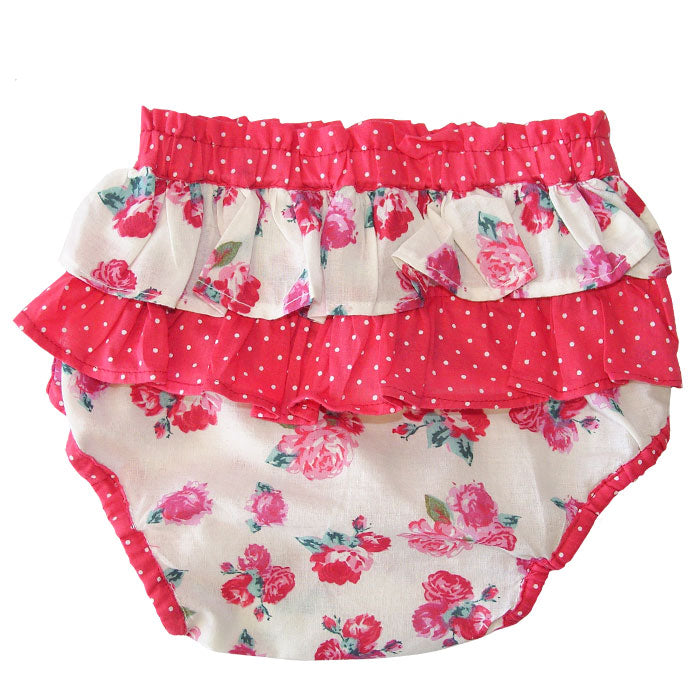 Red Rose Frilly Knickers