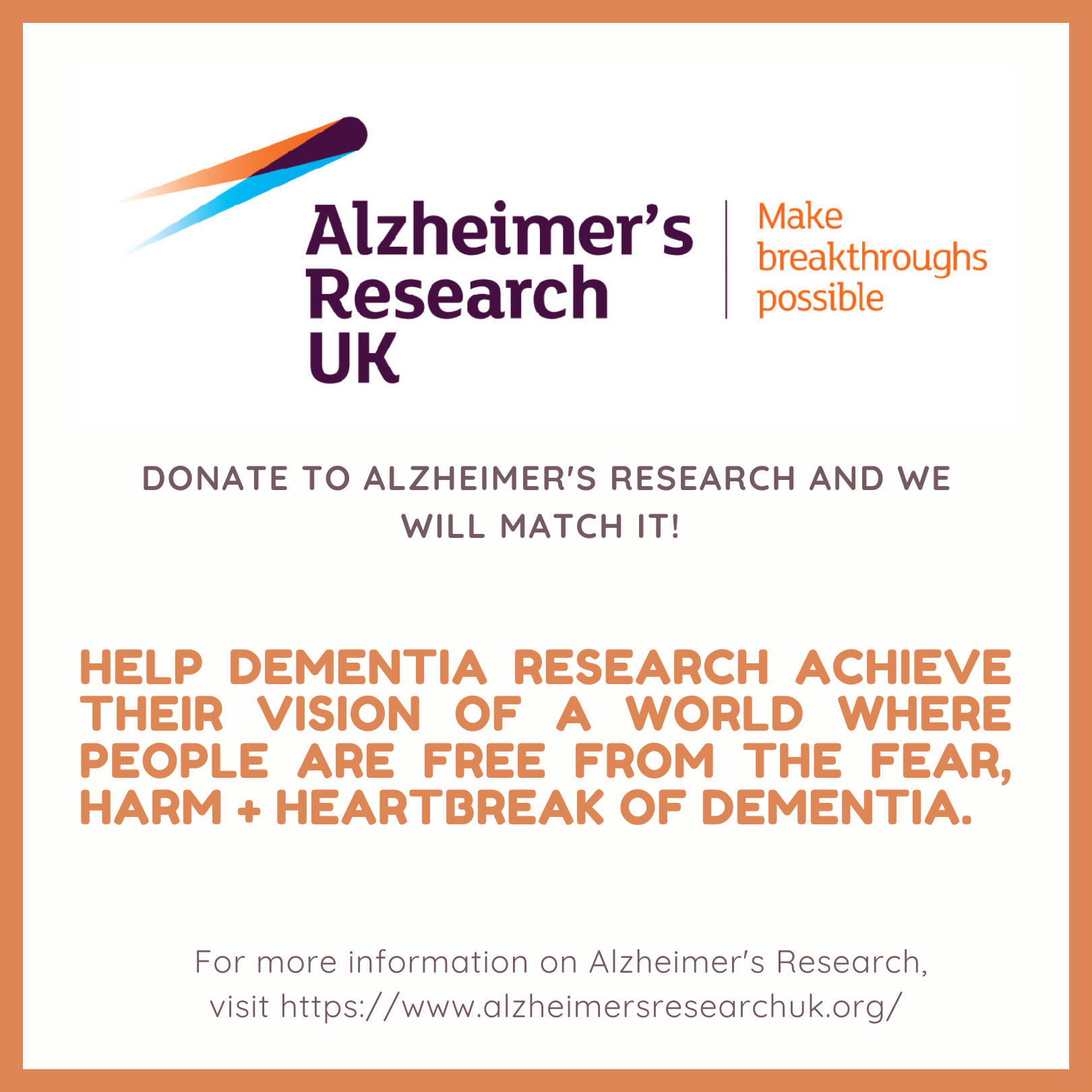 Make a donation and we will match it!