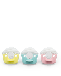 Pacifier - Cupcake 3PK (Cookie) Pacifier Party Pack