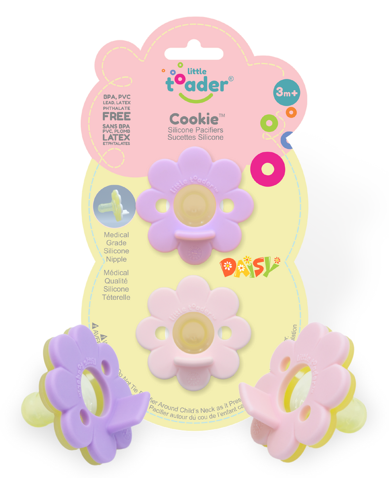 Pacifier - Daisy 2PK (Cookie) Pink and Lavender