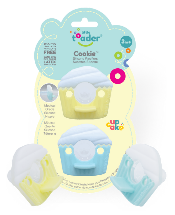 Pacifier - Cupcake 2PK (Cookie)