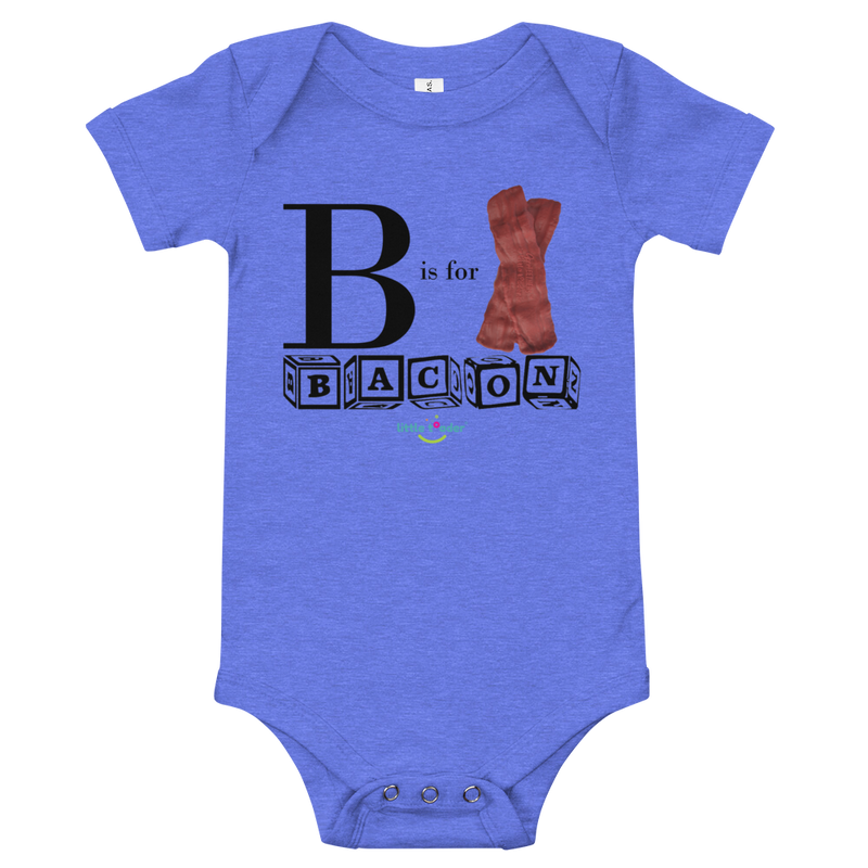 Infant Short Sleeve Bodysuit - B is for Bacon
