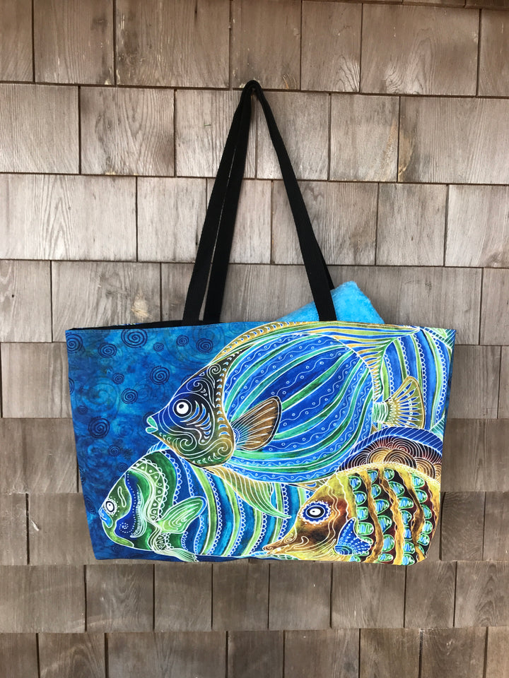 Fish School Beach Bag