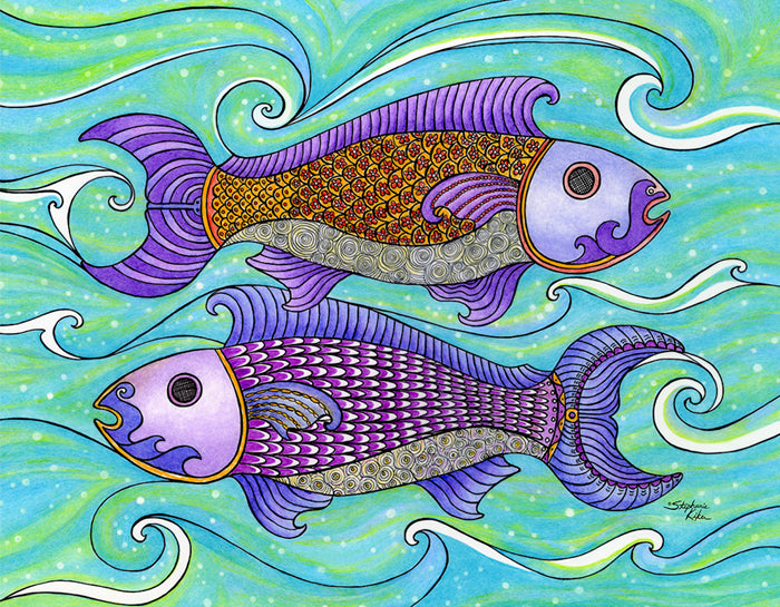 Two Fishes Print