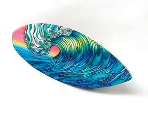 The Wave Surfboard Wall Art