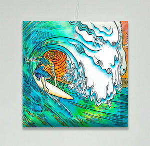 Sunset Surfer Ornament/Suncatcher