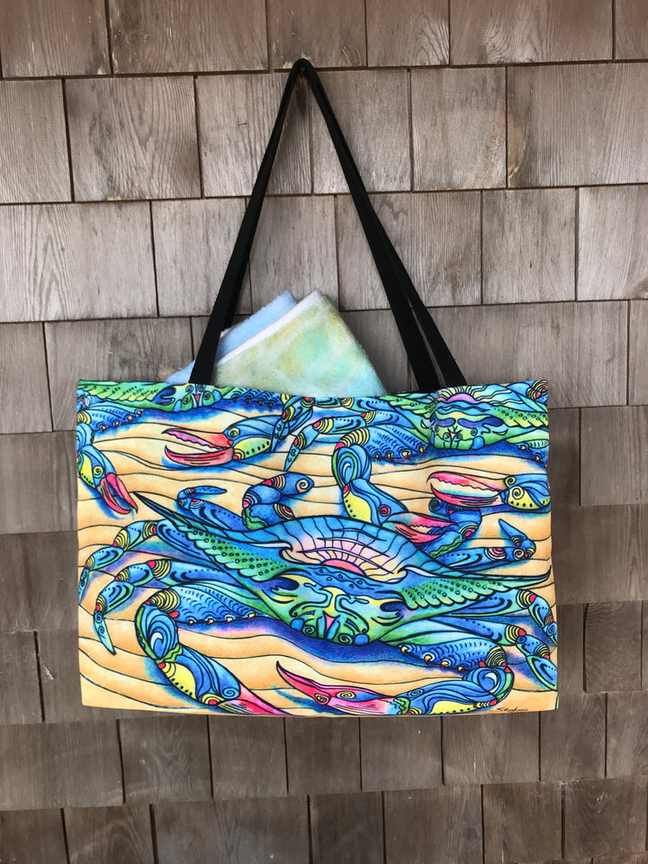Blue Crabs Beach Bag