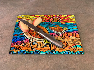 2 Sandpipers Cutting Board