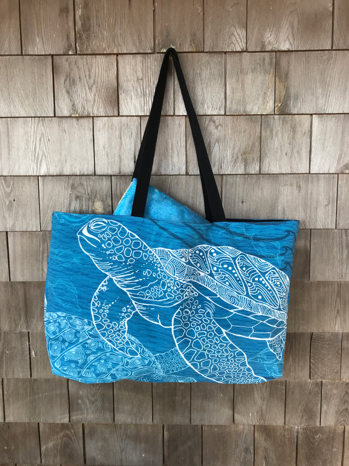 Sea Turtle One Color Beach Bag