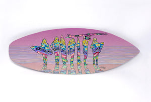 Surf Sisters Surfboard Wall Art