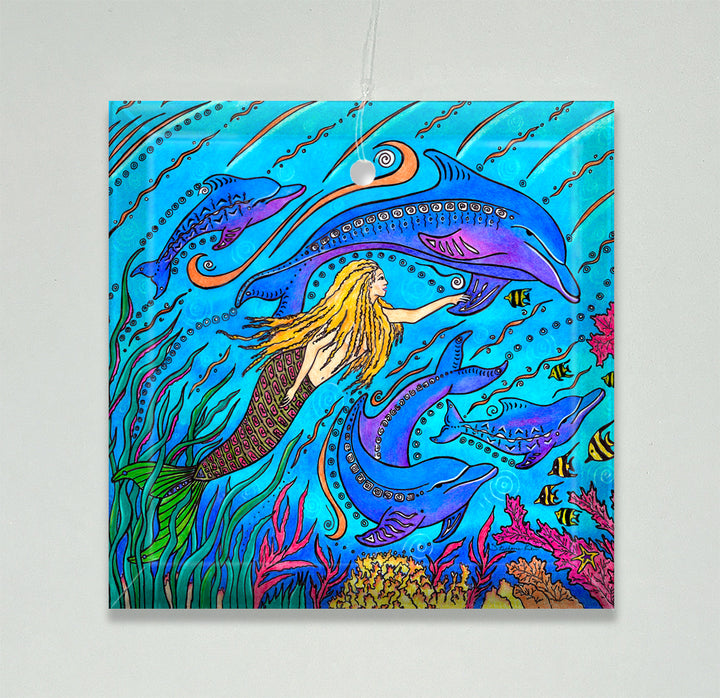 Swim with Dolphins Ornament/Suncatcher