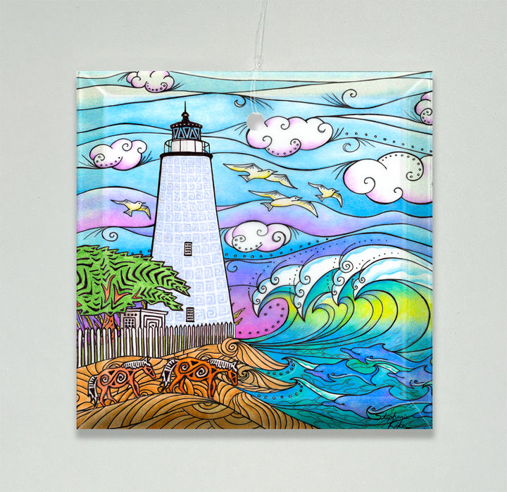 Ocracoke Waves Ornament/Suncatcher