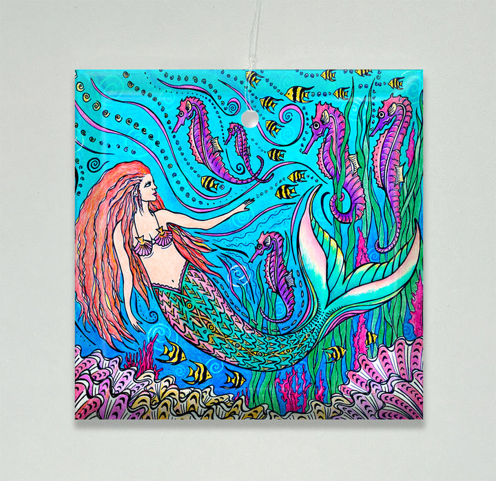 Mermaid and Seahorses Ornament/Suncatcher