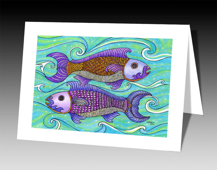 Two Fishes Notecard