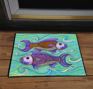 Two Fishes Door Mat