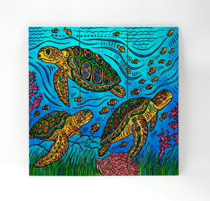3 Loggerheads Wall Art