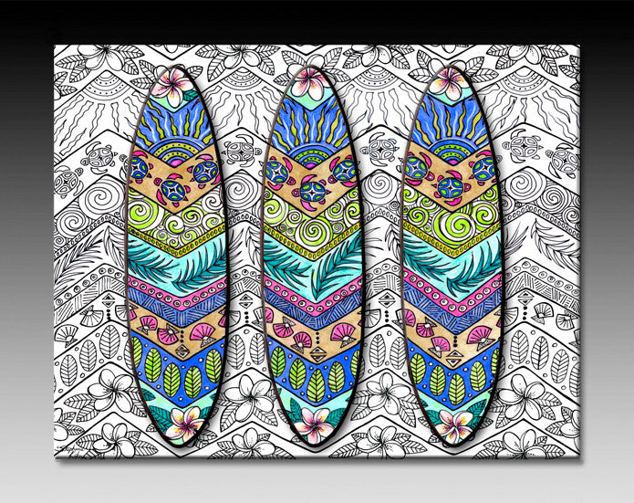 3 Surfboards Ceramic Tile