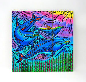 3 Dolphins Wall Art