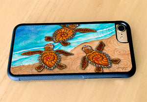 3 Baby Turtles iPhone Case