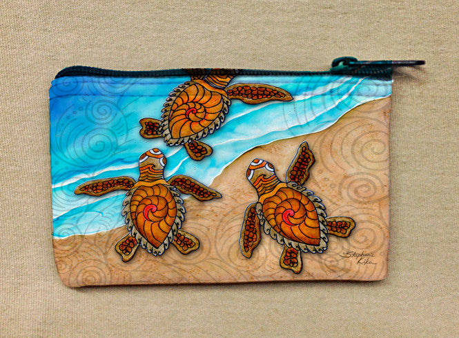 3 Baby Turtles Coin Bag