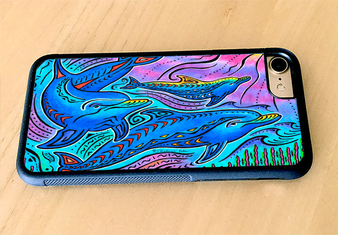 3 Dolphins iPhone Case