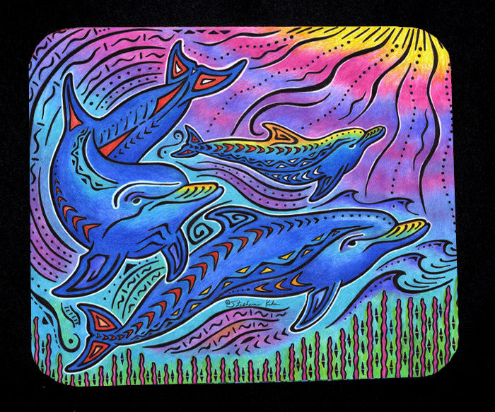 3 Dolphins Mousepad