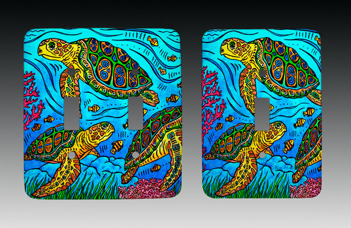 3 Loggerheads Light Switch Cover