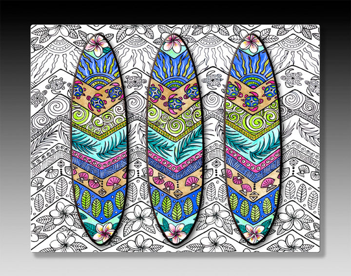 3 Surf Boards Aluminum Wall Art