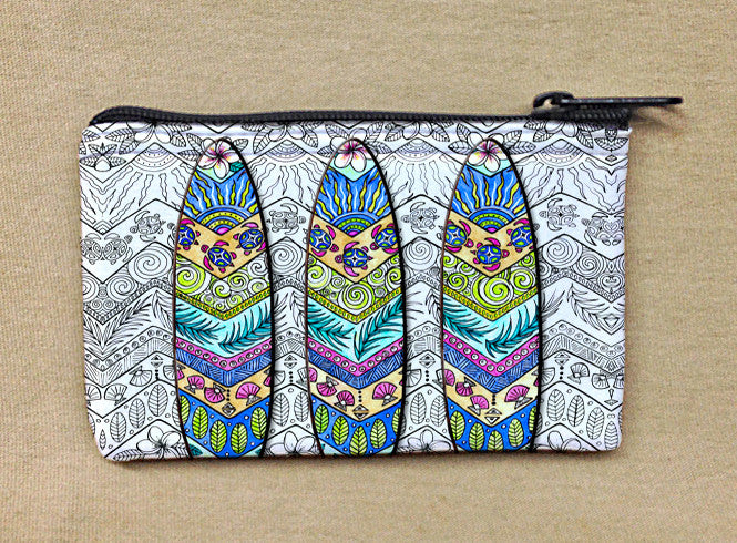 3 Surf Boards Coin Bag