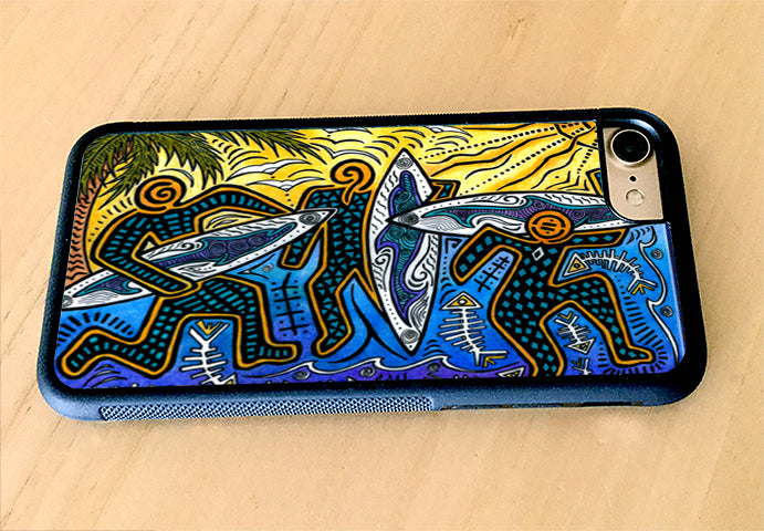 3 Surfers iPhone Case