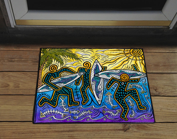 3 Surfers Door Mat