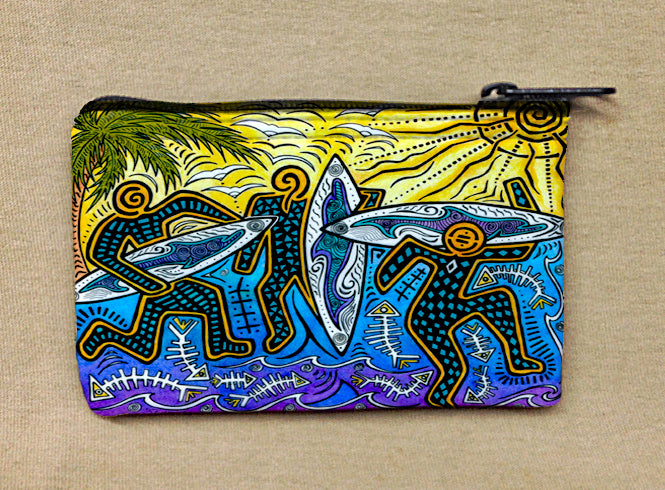 3 Surfers Coin Bag
