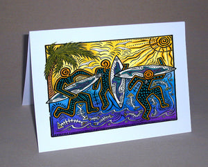 3 Surfers Notecard