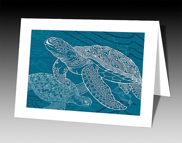 Sea Turtles One Color Notecard