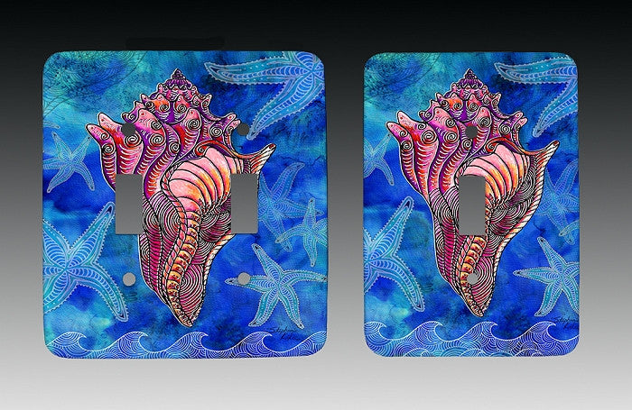Conch Shell Light Switch Cover