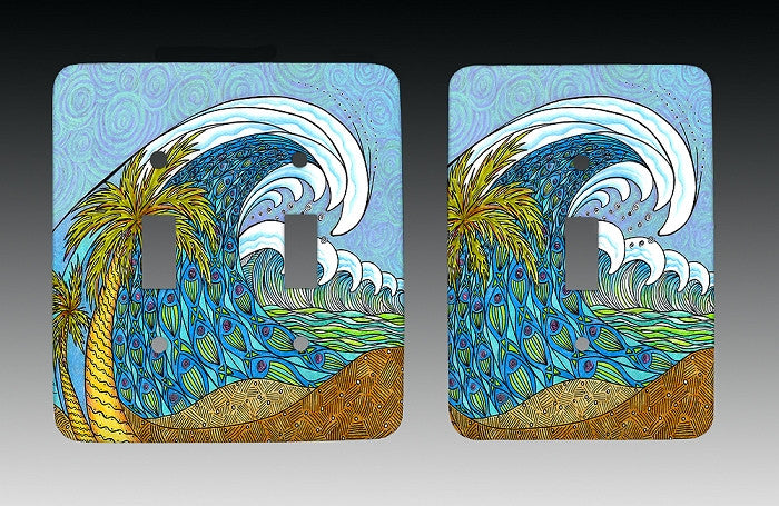 Palm Trees and Waves Light Switch Cover