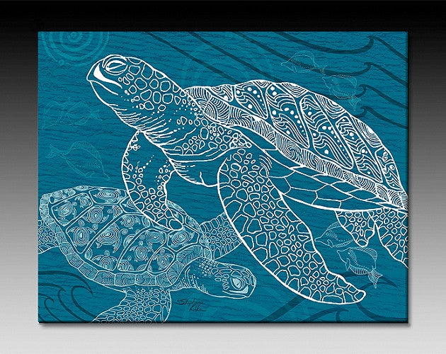 Sea Turtle One Color Ceramic Tile