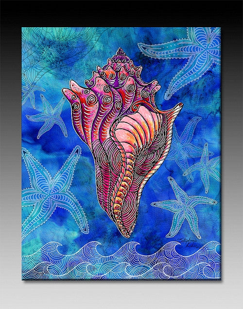 Conch Shell Ceramic Tile
