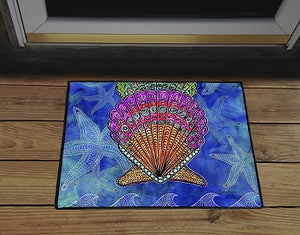Scallop Shells Door Mat