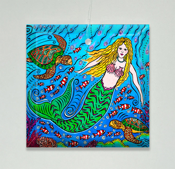 Mermaid and Turtles Ornament/Suncatcher
