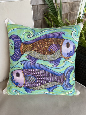 Two Fishes Pillow