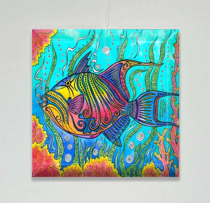 Trigger Fish Ornament/Suncatcher