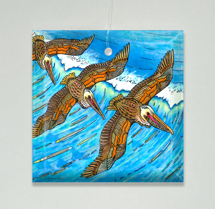 Wings Over Waves Ornament/Suncatcher